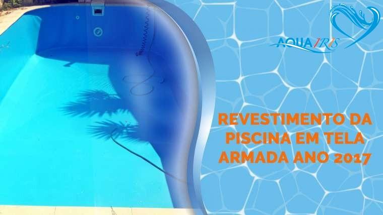 Revestimento da Piscina em Tela Armada em Sintra