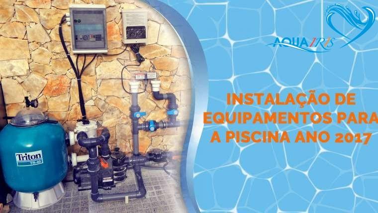 Instalação de Equipamentos para a Piscina em Casal de Cambra