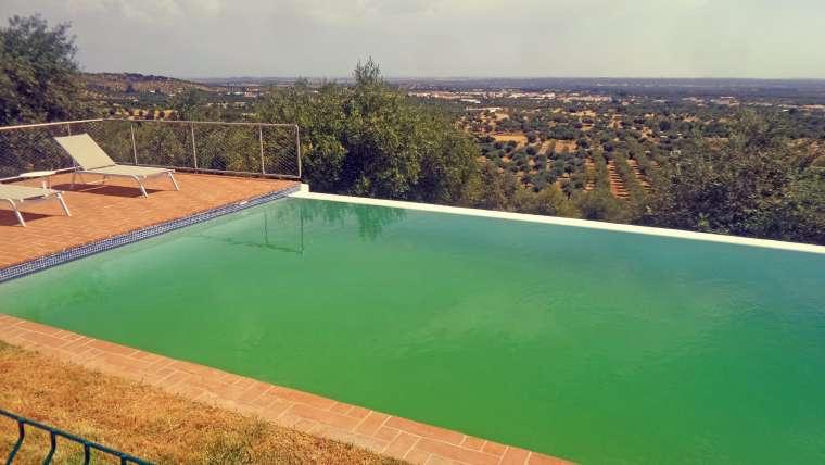 A água da piscina está verde?