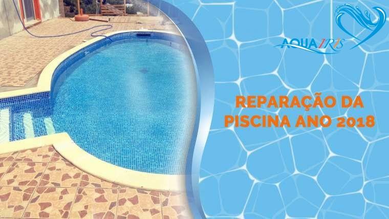 Reparação da piscina em Tavira