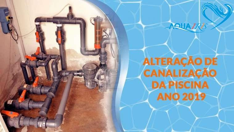 Alteração de canalização da piscina em Samora Correia
