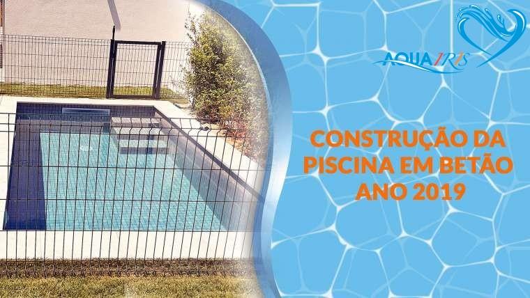 Construção da piscina no Restelo