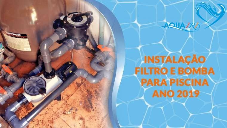 Instalação do filtro e bomba para piscina no Estoril