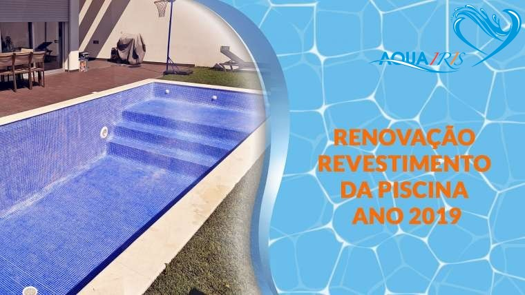 Reparação do revestimento da piscina no Estoril