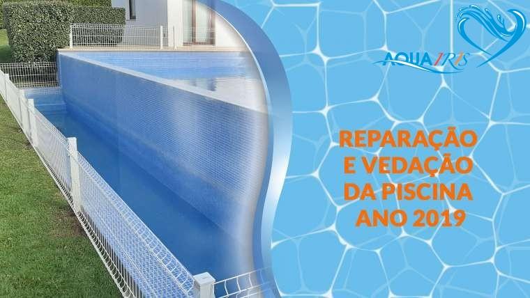 Reparação da fuga da piscina e vedação em Janas Sintra