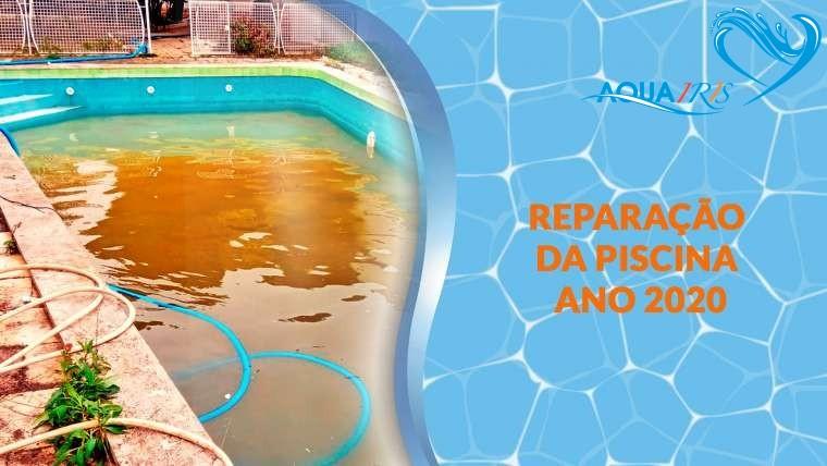 Reparação da fuga da piscina em Murtal-Parede