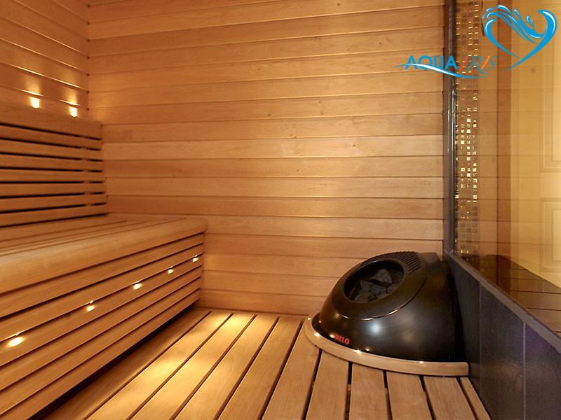 saunas para exteriores ou interiores